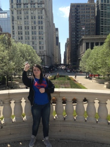 Lu enjoying Chicago.