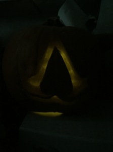 Leo needed to add an Assassin's Creed pumpkin to the mix.